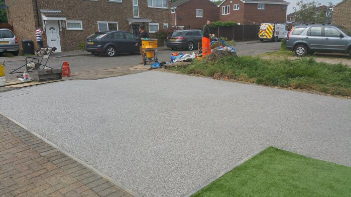 EcoGrid in Driveway Installation, Essex Permeable Paving
