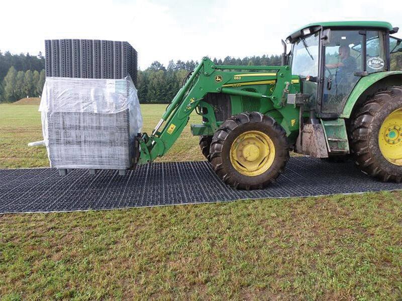 E40 temporary access with heavy load vehicle