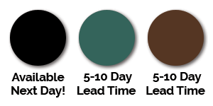Black, green and terracotta colours available