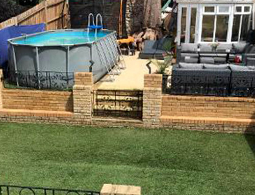 Garden Revamp With Decking Seating Area With Heated Pool