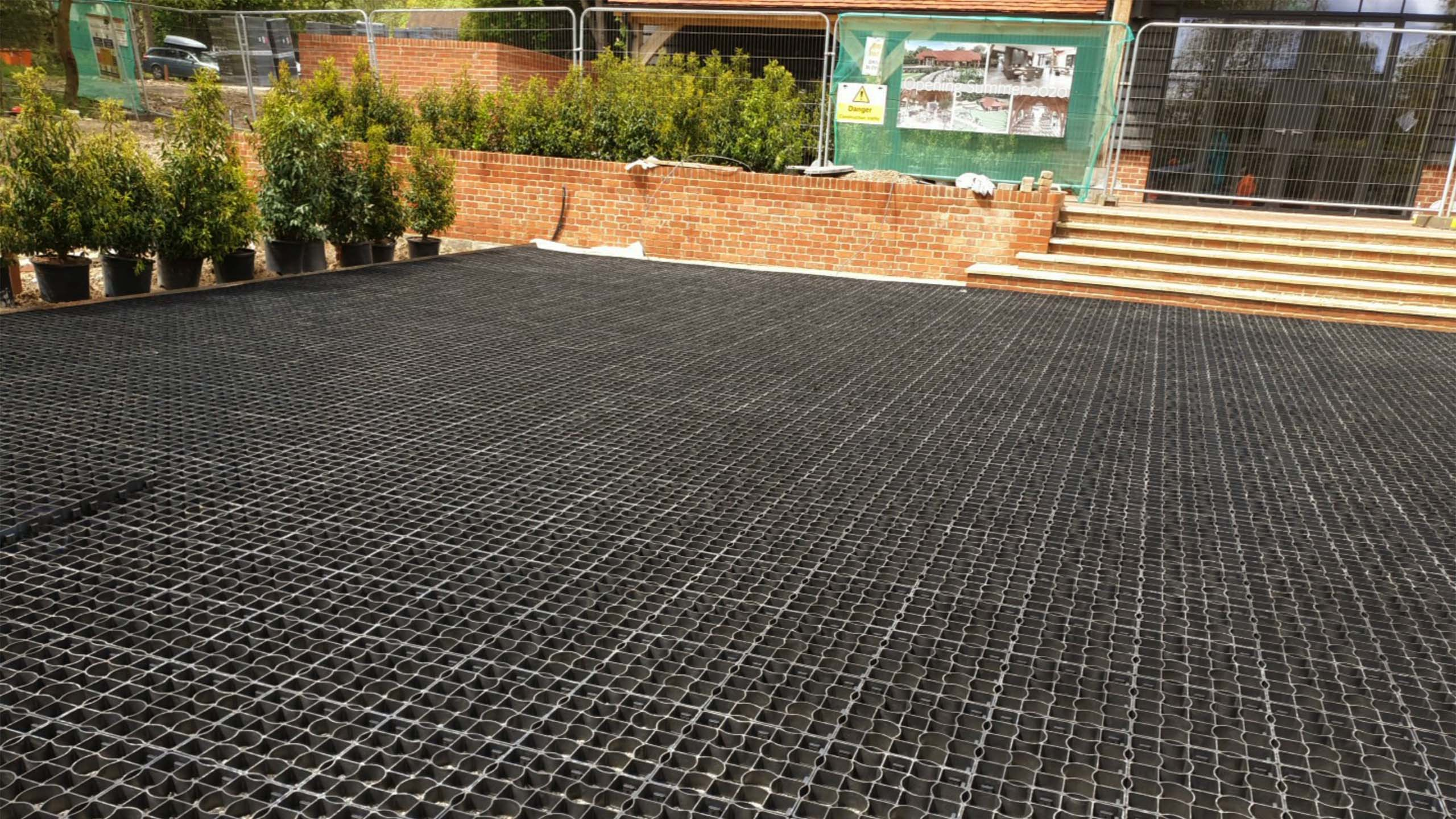 Laid EcoGrid E40 In Court Yard