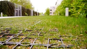 EcoGrid With Growing Seeded Grass Fill Surface